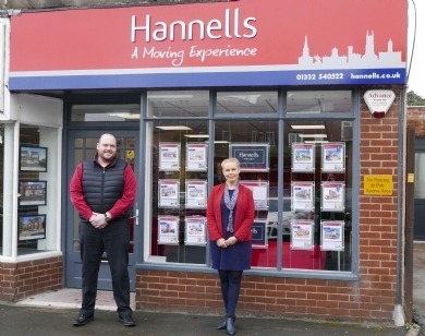 New home for Mickleover branch of Hannells Estate Agents